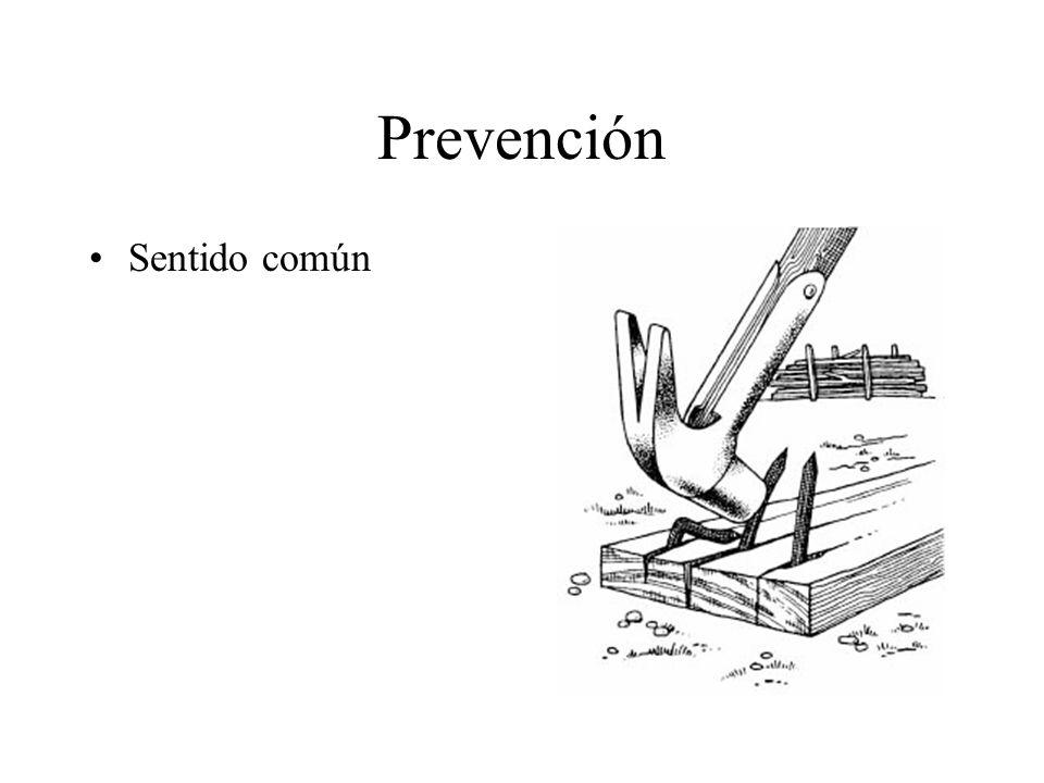 Prevención Sentido común