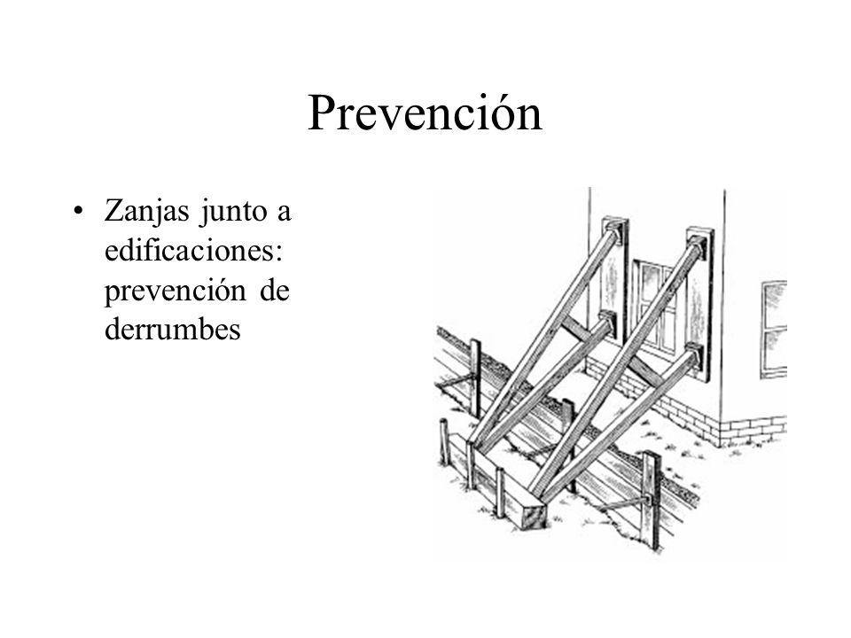 Prevención Zanjas junto a edificaciones: prevención de derrumbes