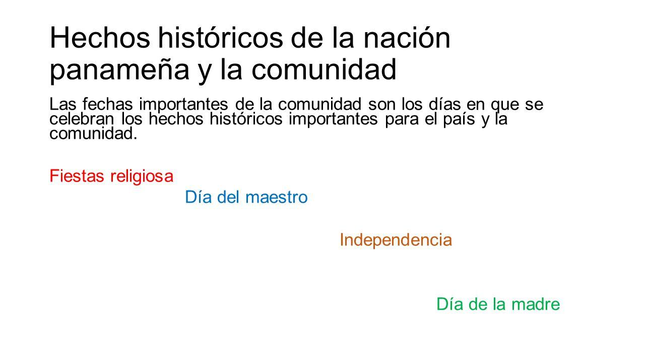 Hechos históricos de la nación panameña y la comunidad