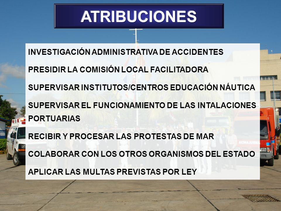 ATRIBUCIONES INVESTIGACIÓN ADMINISTRATIVA DE ACCIDENTES