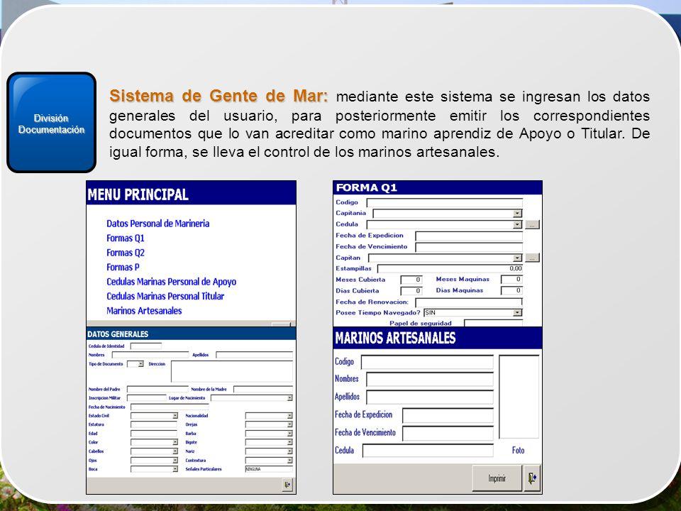 División Documentación.