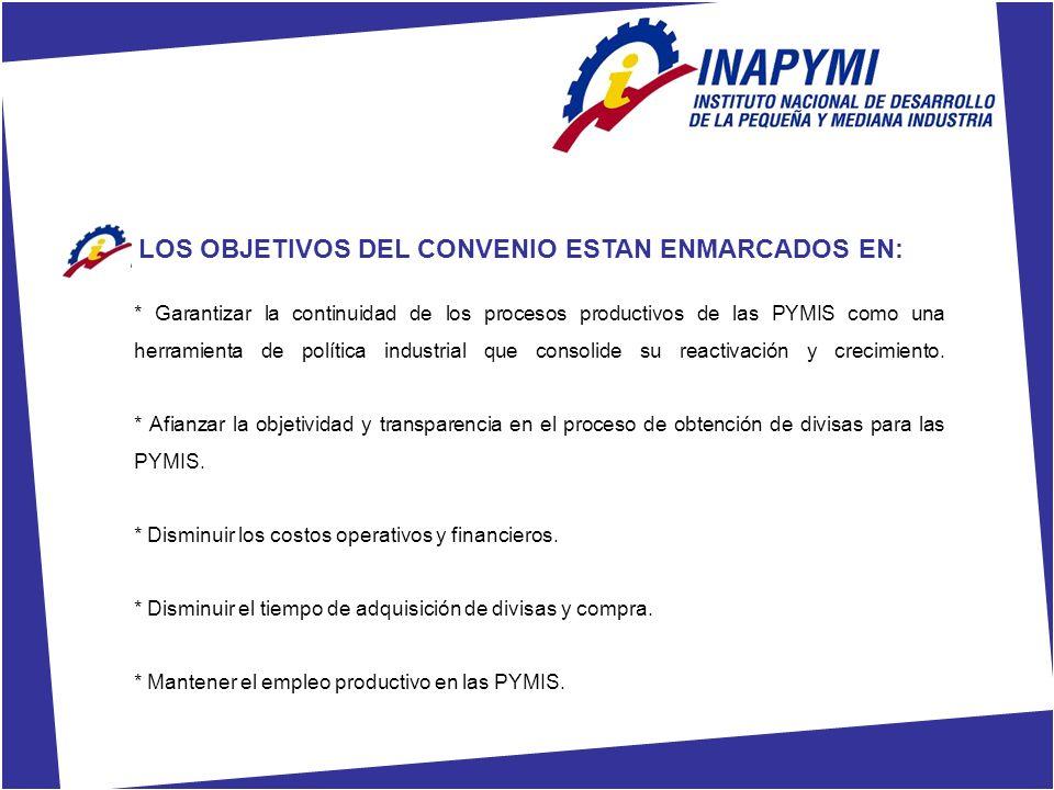LOS OBJETIVOS DEL CONVENIO ESTAN ENMARCADOS EN: