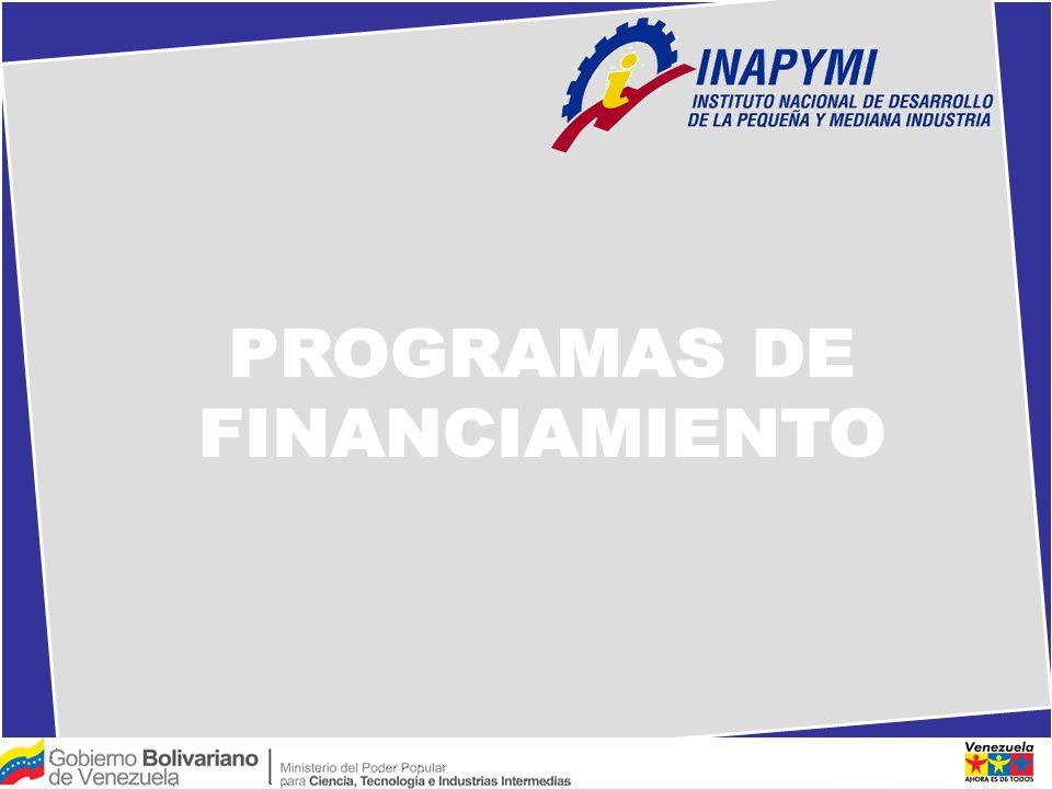 PROGRAMAS DE FINANCIAMIENTO