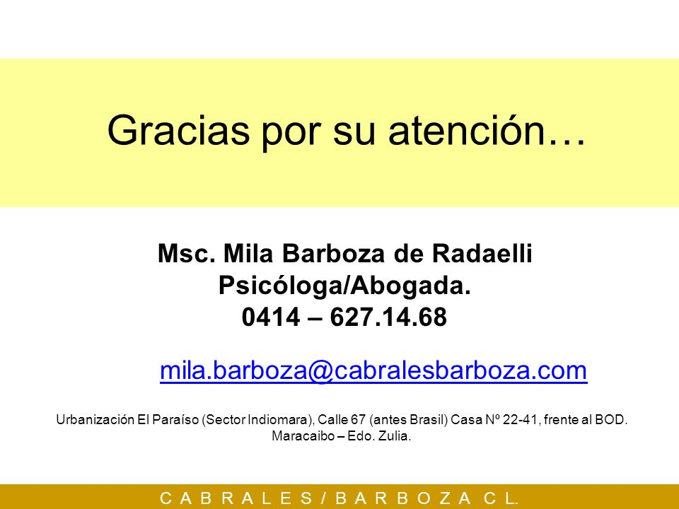 Msc. Mila Barboza de Radaelli
