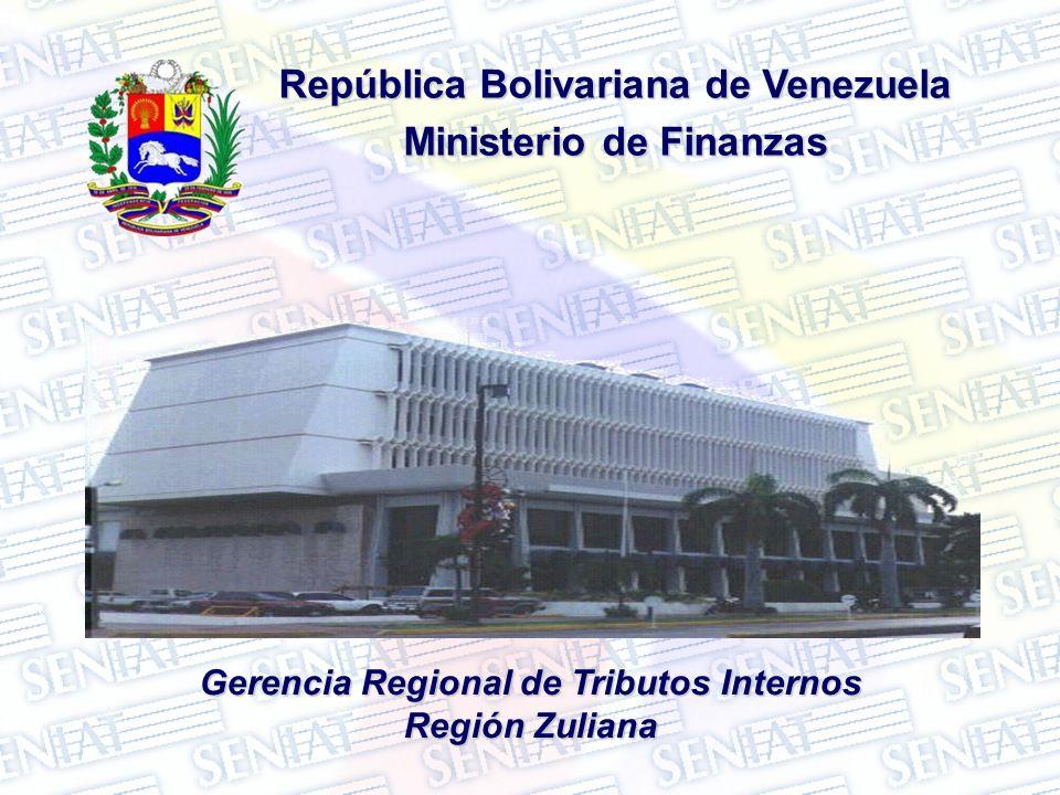 República Bolivariana de Venezuela Ministerio de Finanzas