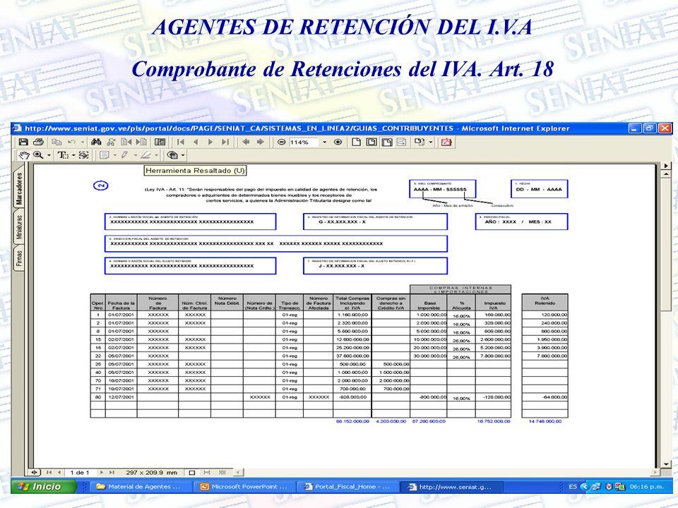 AGENTES DE RETENCIÓN DEL I.V.A