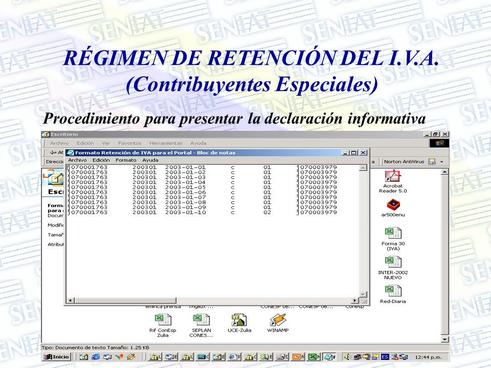 RÉGIMEN DE RETENCIÓN DEL I.V.A. (Contribuyentes Especiales)