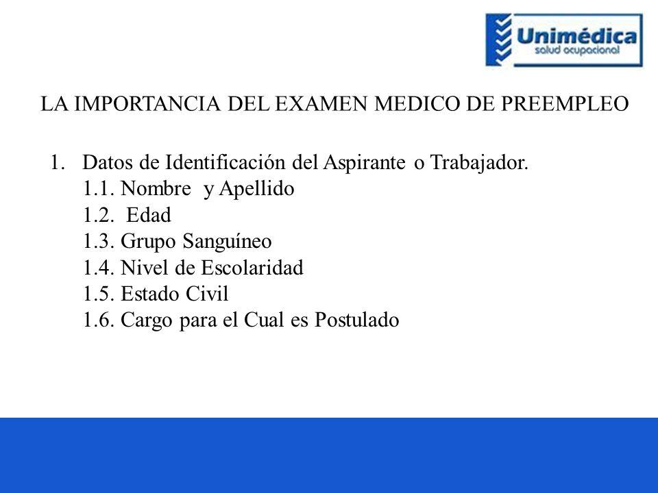 LA IMPORTANCIA DEL EXAMEN MEDICO DE PREEMPLEO