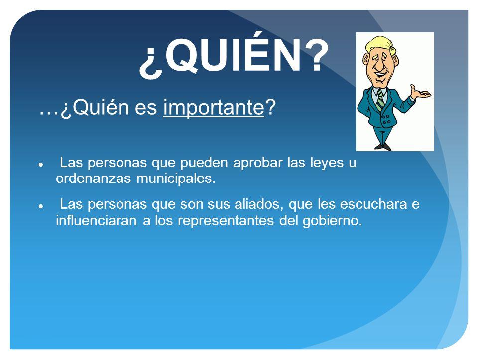 ¿QUIÉN …¿Quién es importante