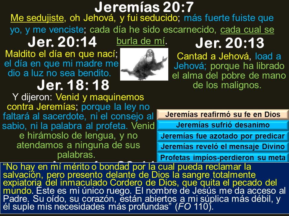 jeremiah 20 7 13 exergesis Commentary to the book of jeremiah – rev john schultz 1 © 2008 john schultz – all rights reserved published by bible-commentariescom – used with permission.