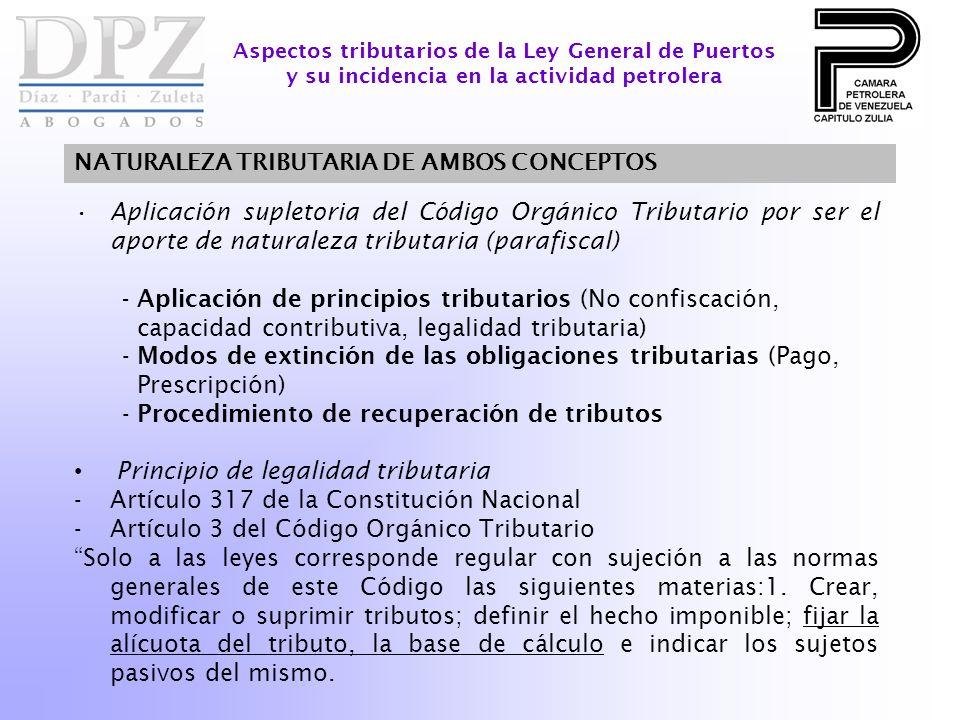 NATURALEZA TRIBUTARIA DE AMBOS CONCEPTOS