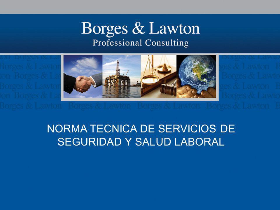 NORMA TECNICA DE SERVICIOS DE SEGURIDAD Y SALUD LABORAL