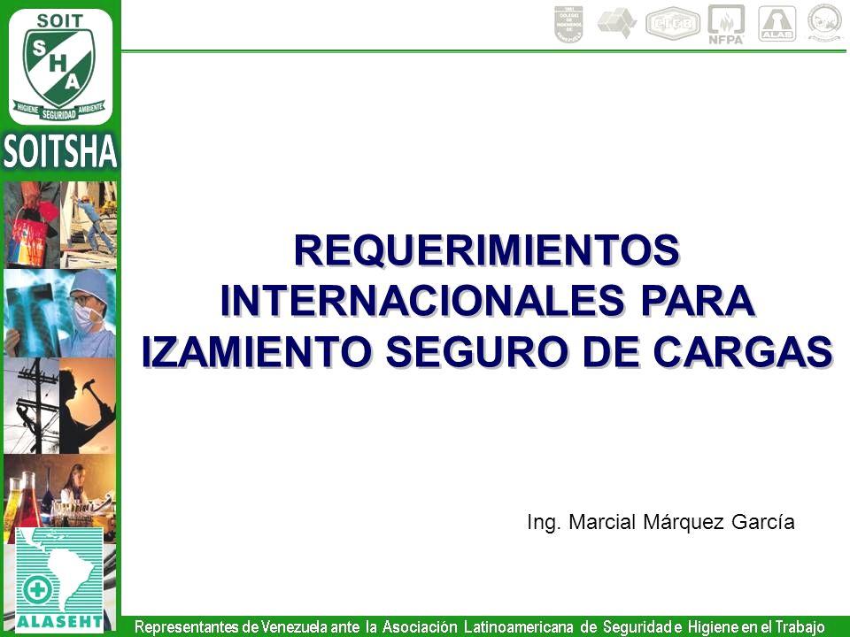 REQUERIMIENTOS INTERNACIONALES PARA IZAMIENTO SEGURO DE CARGAS