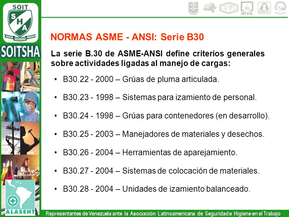 NORMAS ASME - ANSI: Serie B30