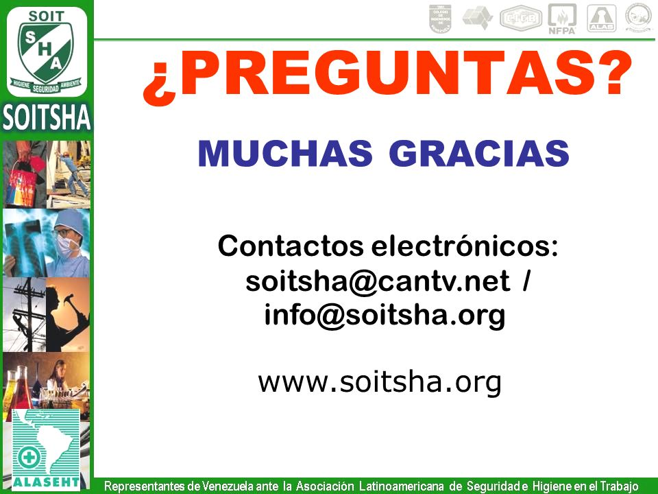 Contactos electrónicos: soitsha@cantv.net / info@soitsha.org