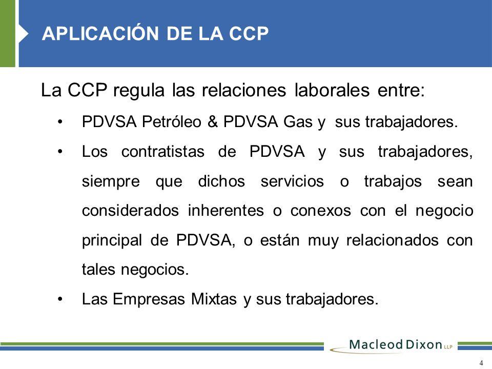 La CCP regula las relaciones laborales entre: