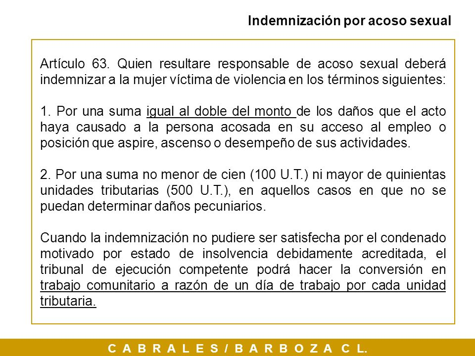 Indemnización por acoso sexual