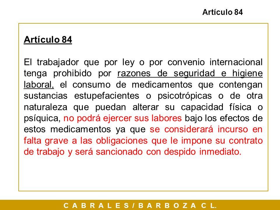 Artículo 84 Artículo 84.