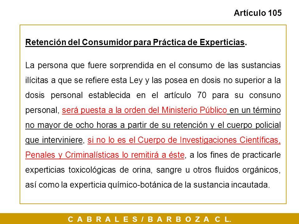 Retención del Consumidor para Práctica de Experticias.