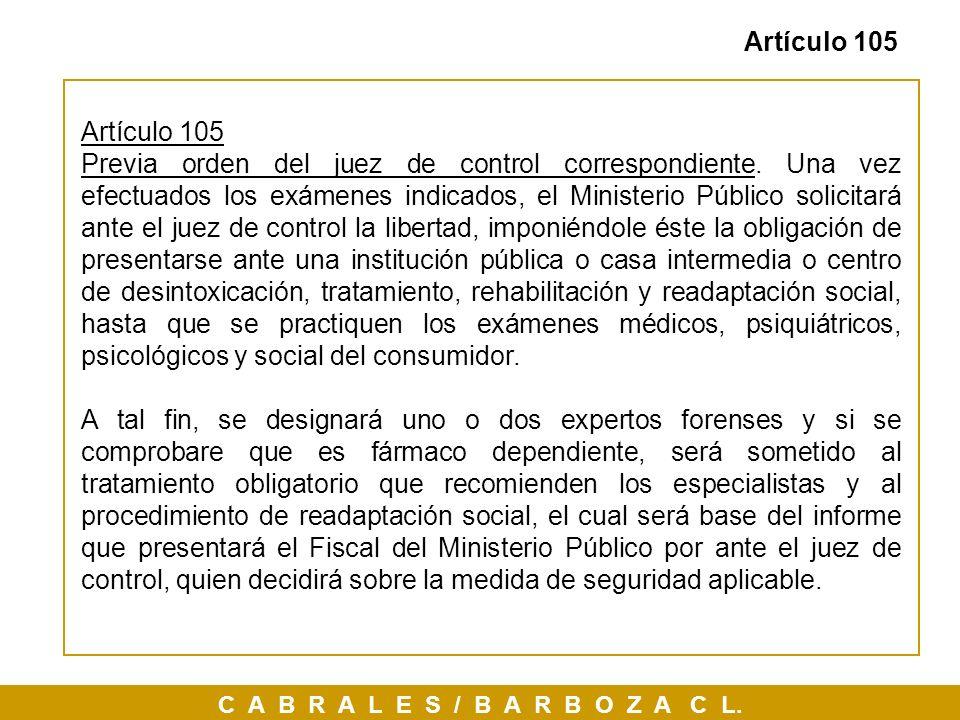 Artículo 105Artículo 105.