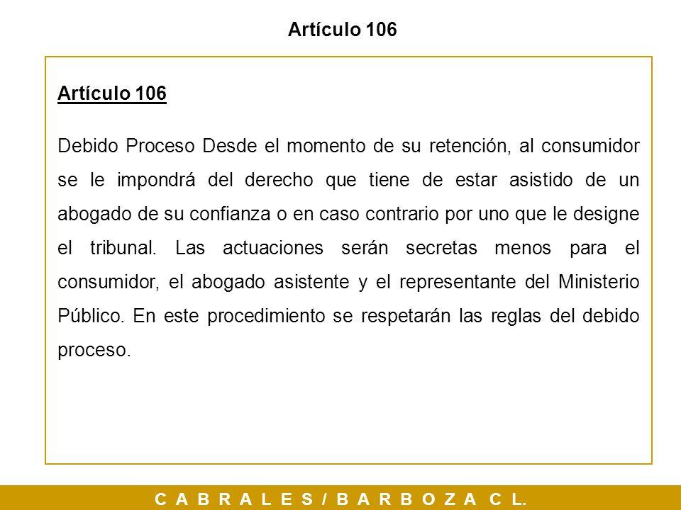 Artículo 106Artículo 106.