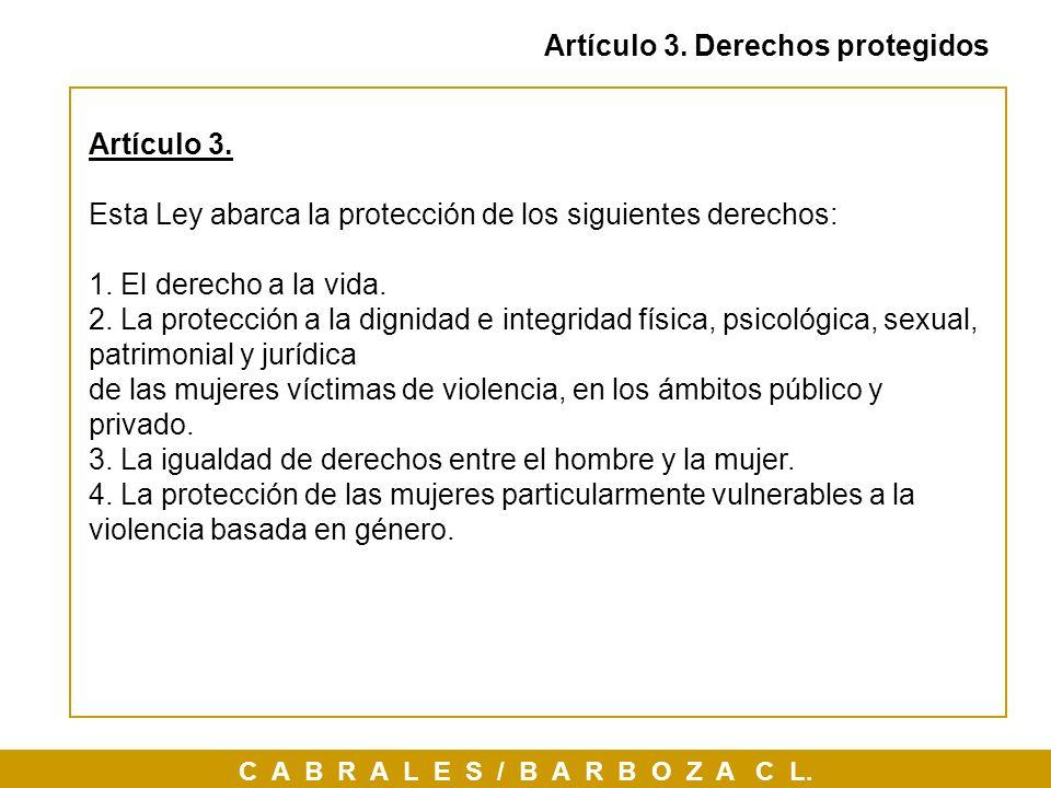 Artículo 3. Derechos protegidos