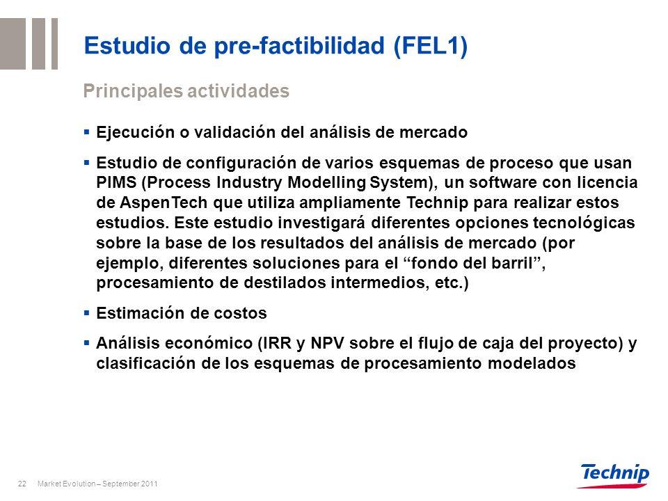 Estudio de pre-factibilidad (FEL1)