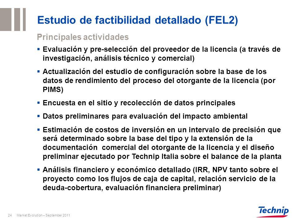 Estudio de factibilidad detallado (FEL2)