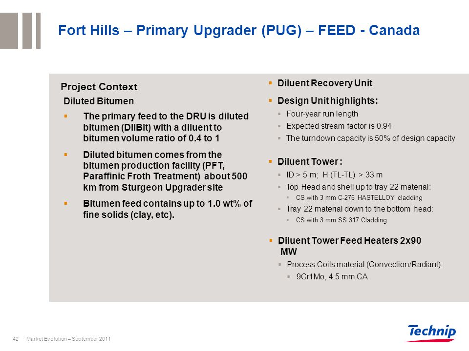 Fort Hills – Primary Upgrader (PUG) – FEED - Canada