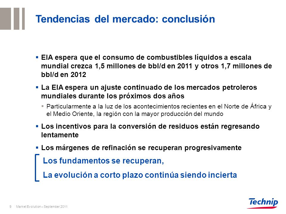 Tendencias del mercado: conclusión
