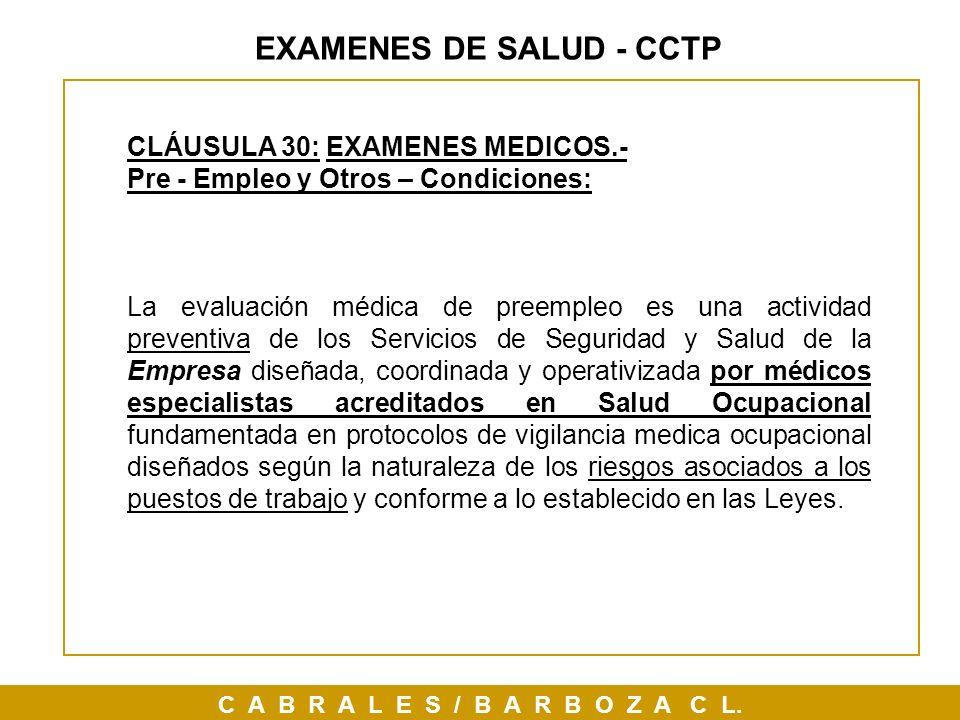 EXAMENES DE SALUD - CCTP