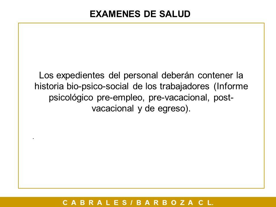 EXAMENES DE SALUD