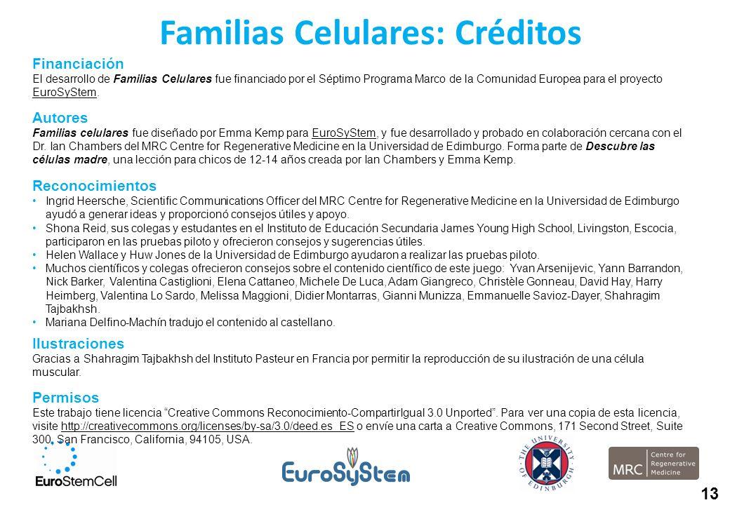 Familias Celulares: Créditos