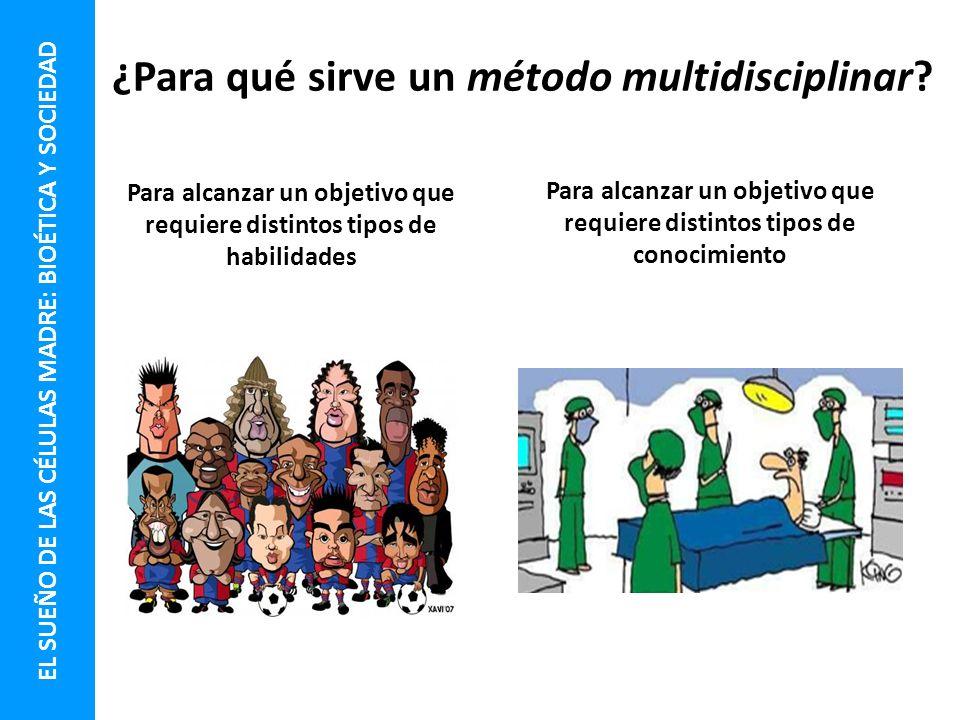 ¿Para qué sirve un método multidisciplinar
