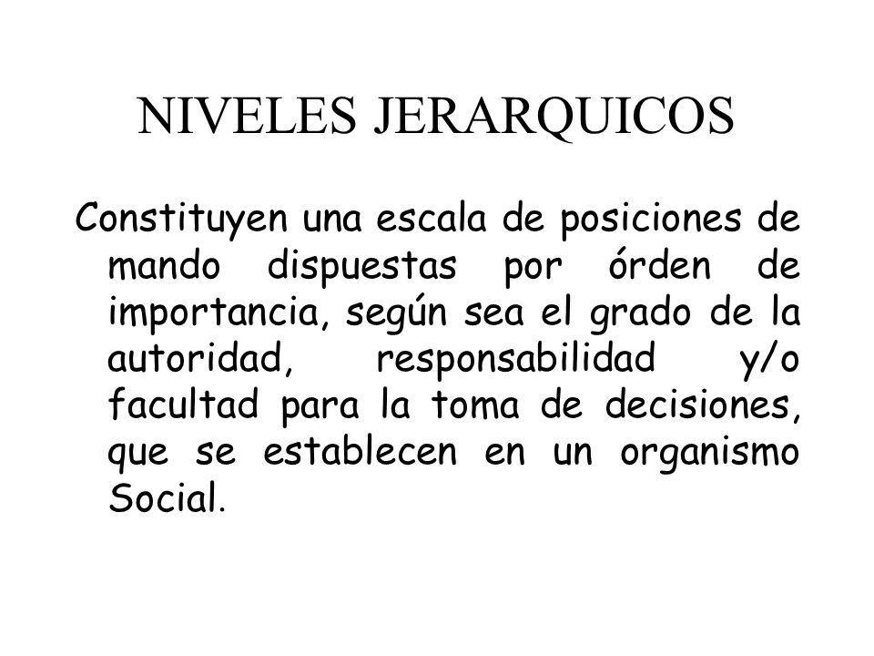 NIVELES JERARQUICOS