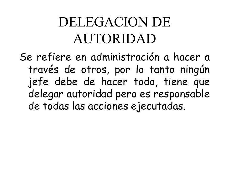 DELEGACION DE AUTORIDAD