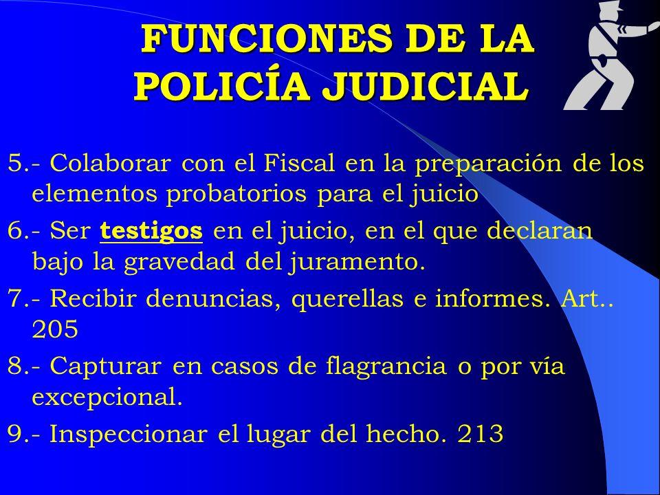 FUNCIONES DE LA POLICÍA JUDICIAL