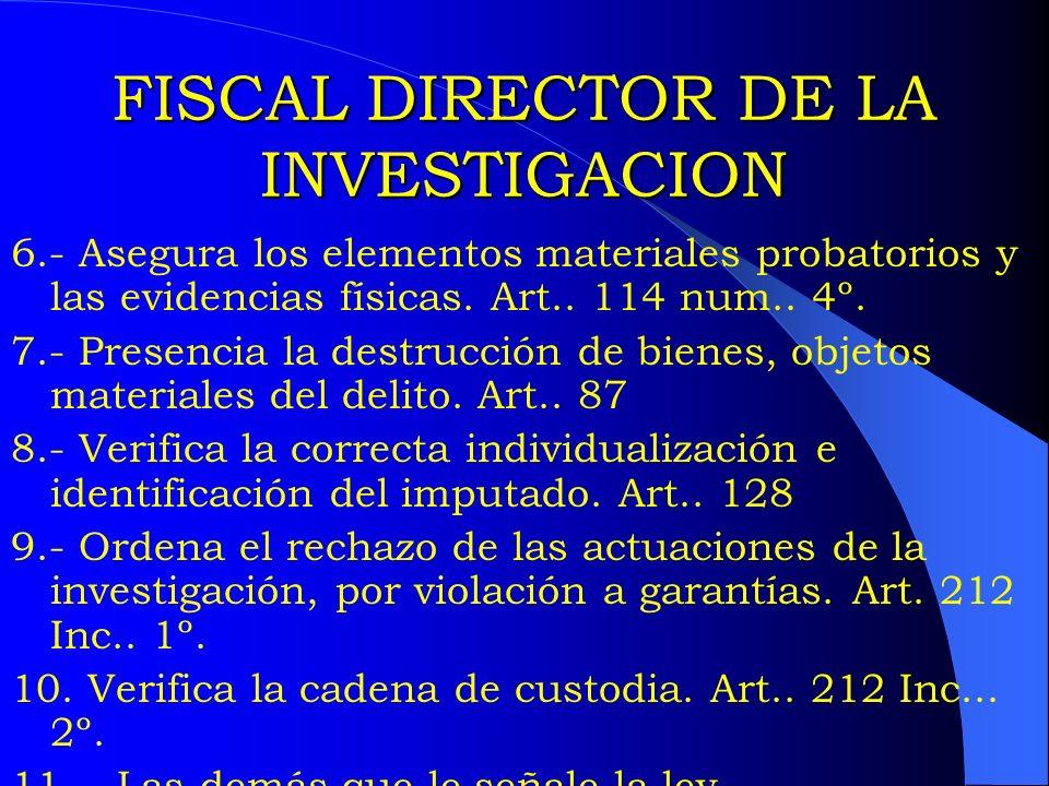 FISCAL DIRECTOR DE LA INVESTIGACION