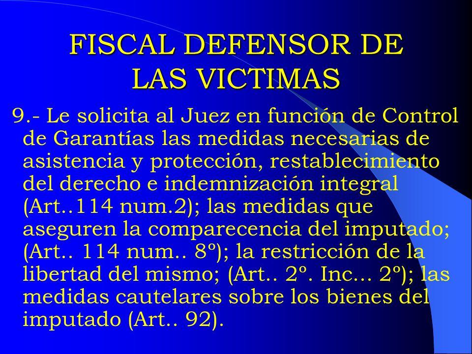 FISCAL DEFENSOR DE LAS VICTIMAS
