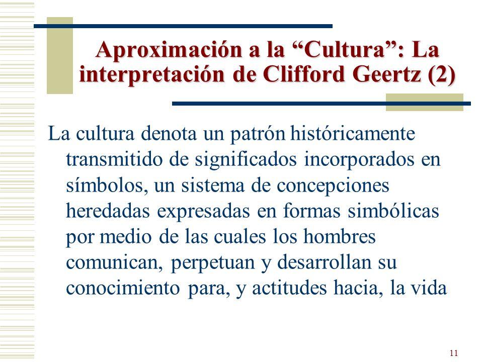 Aproximación a la Cultura : La interpretación de Clifford Geertz (2)
