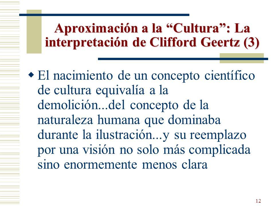 Aproximación a la Cultura : La interpretación de Clifford Geertz (3)