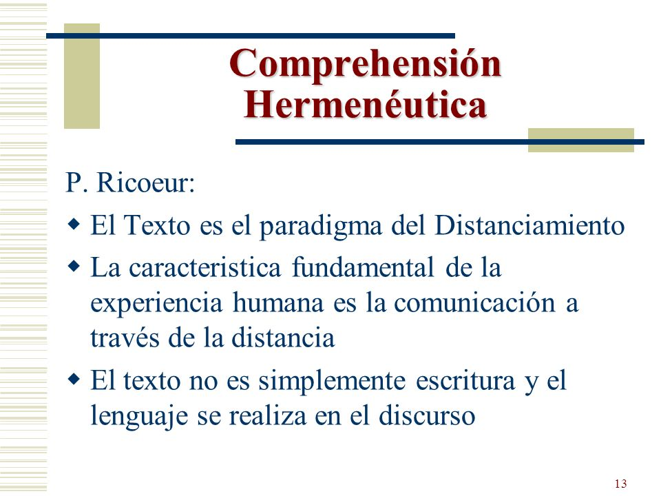 Comprehensión Hermenéutica