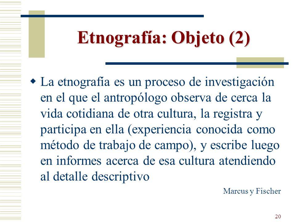 Etnografía: Objeto (2)