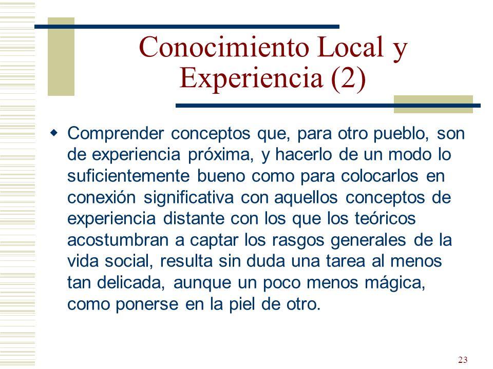 Conocimiento Local y Experiencia (2)
