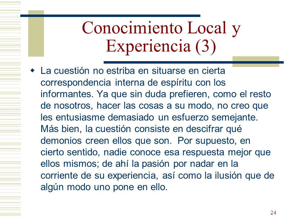 Conocimiento Local y Experiencia (3)