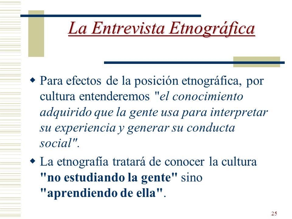 La Entrevista Etnográfica