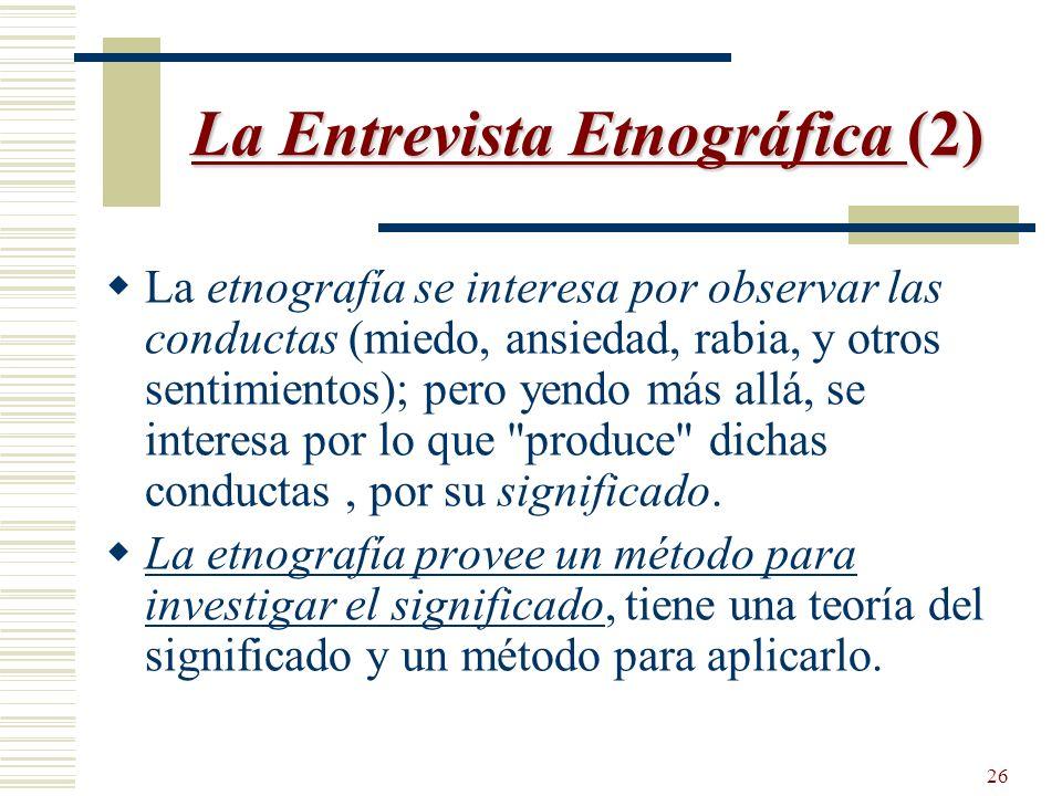La Entrevista Etnográfica (2)