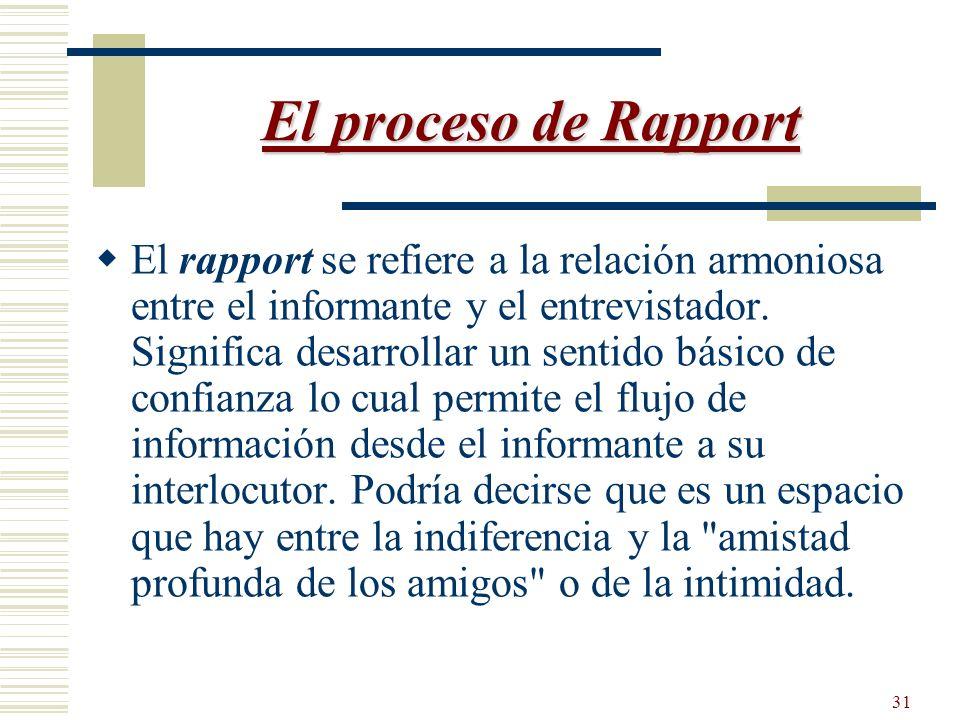 El proceso de Rapport