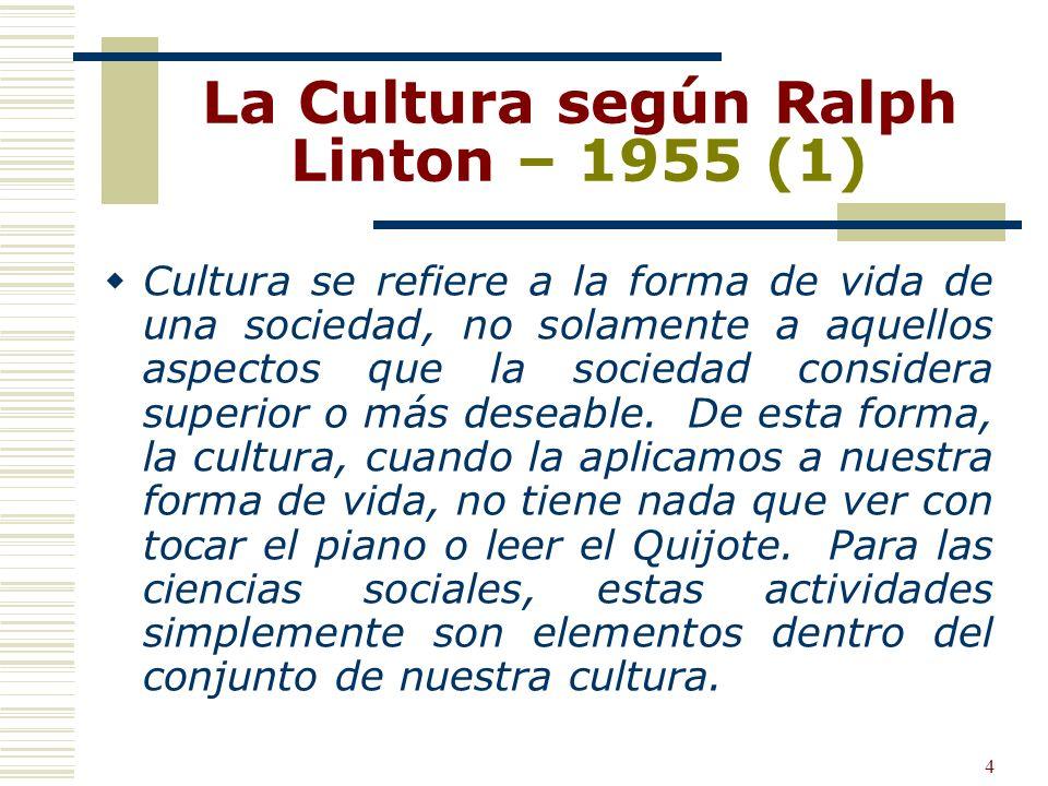 La Cultura según Ralph Linton – 1955 (1)