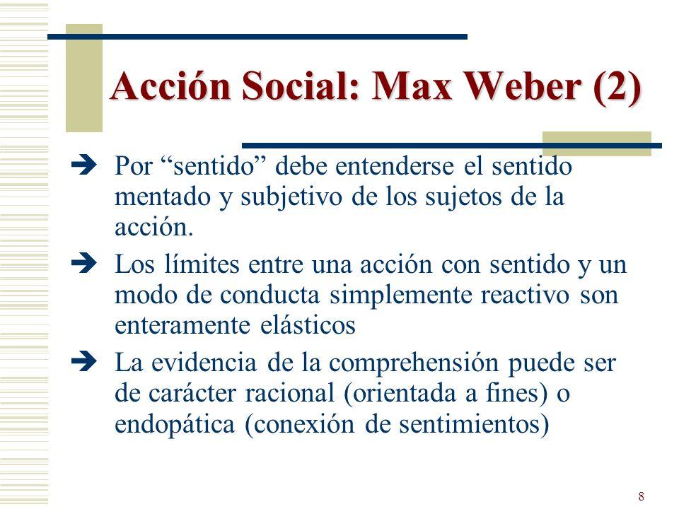 Acción Social: Max Weber (2)